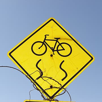 Cyclist warning