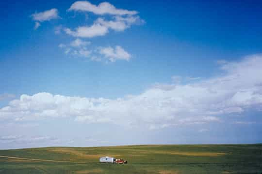 Airstream in Wide Open Prairie, Nebraska, 1997